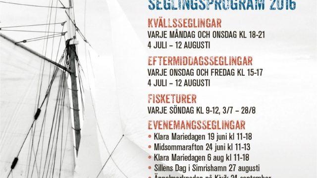 seglingsprogrammet klara marie affischen 2016